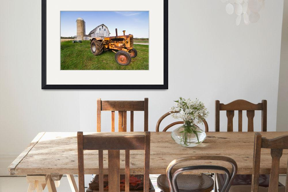"""""""Yellow Tractor&quot  (2010) by JacobMeudtPhotography"""