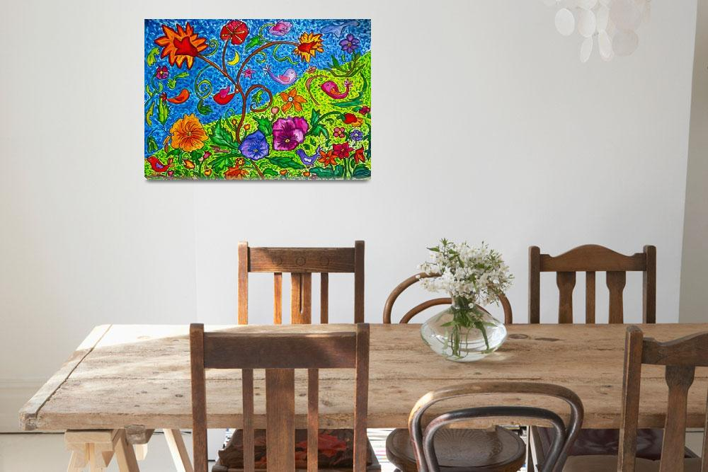 """""""Dancing Florals""""  (2012) by Countryswiss"""