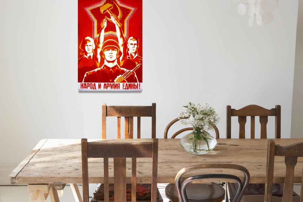 """""""Vintage USSR Russia Cold War Soviet Union Poster&quot  by palaciodebellasartes"""
