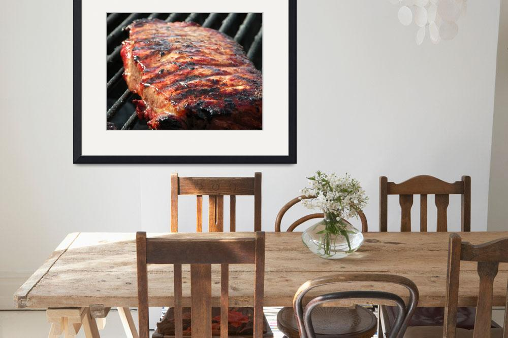 """""""Steak on grill&quot  (2009) by mikestanley"""