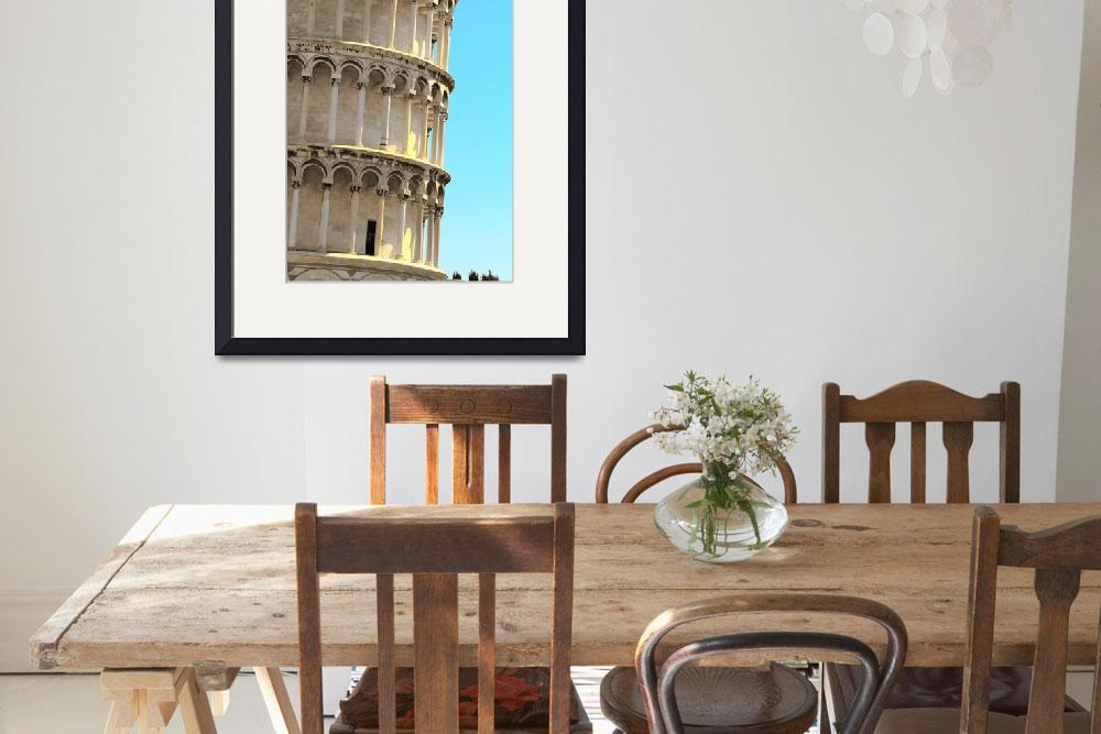 """""""Leaning Tower Detail&quot  (2008) by Shutterstitch"""