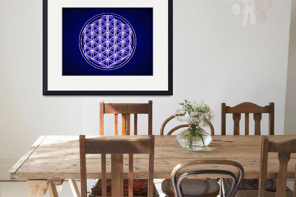 """""""Flower Of Live - Indigo Blue&quot  by dcz"""