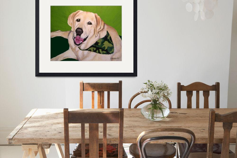 """Old Yellow Labrador Retriever at Hunting Camp&quot  (2007) by DogsandFlowers"