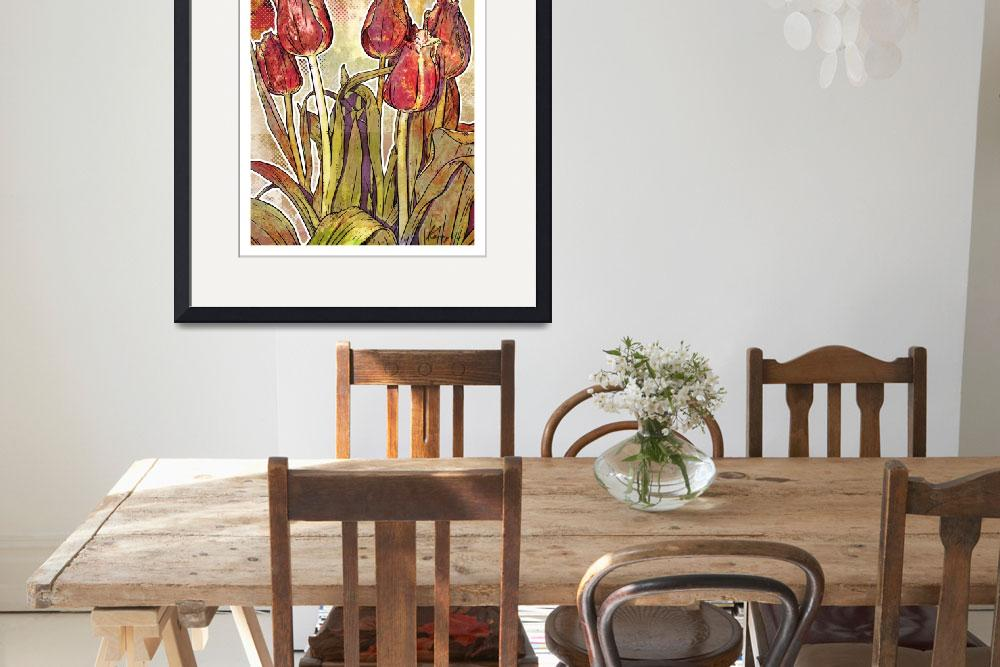 """Modern Florals: Tulips&quot  (2009) by karynlewis"