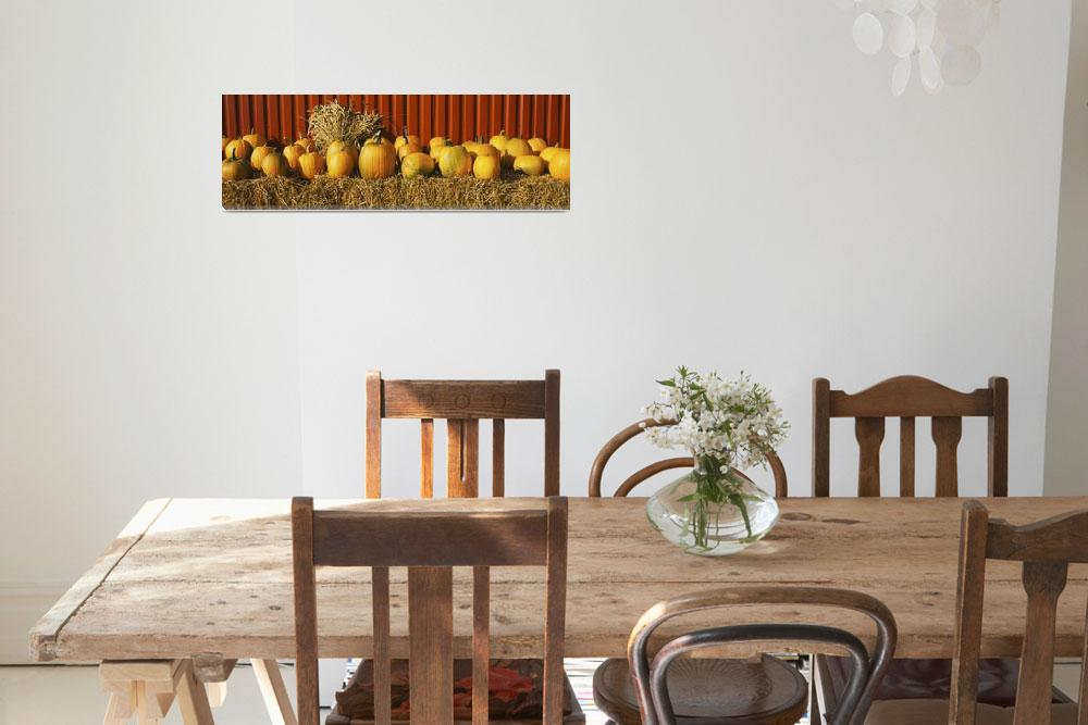 """""""Pumpkins near a fence&quot  by Panoramic_Images"""