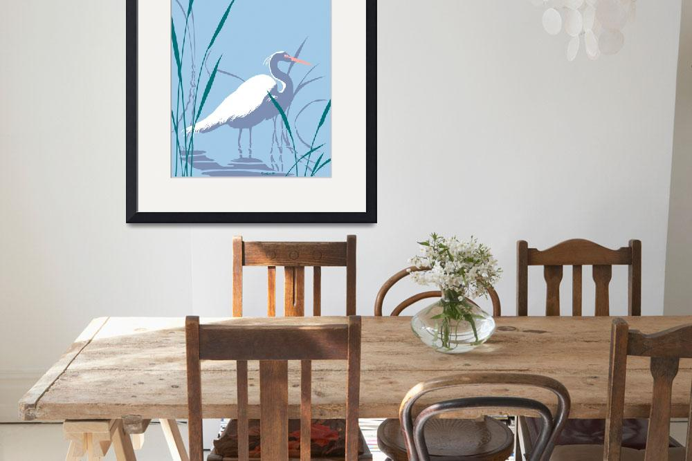 """abstract Egret graphic retro pop art&quot  (1985) by walt-curlee"
