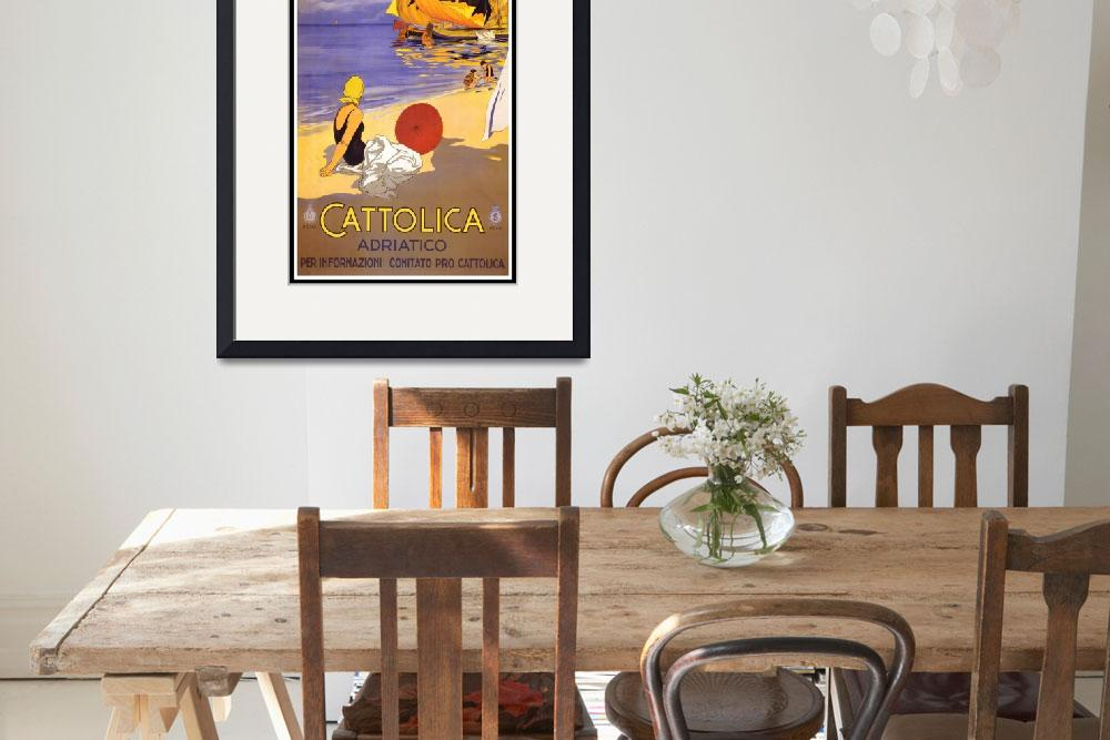 """""""Italy Vintage Travel Poster&quot  by shanmaree"""
