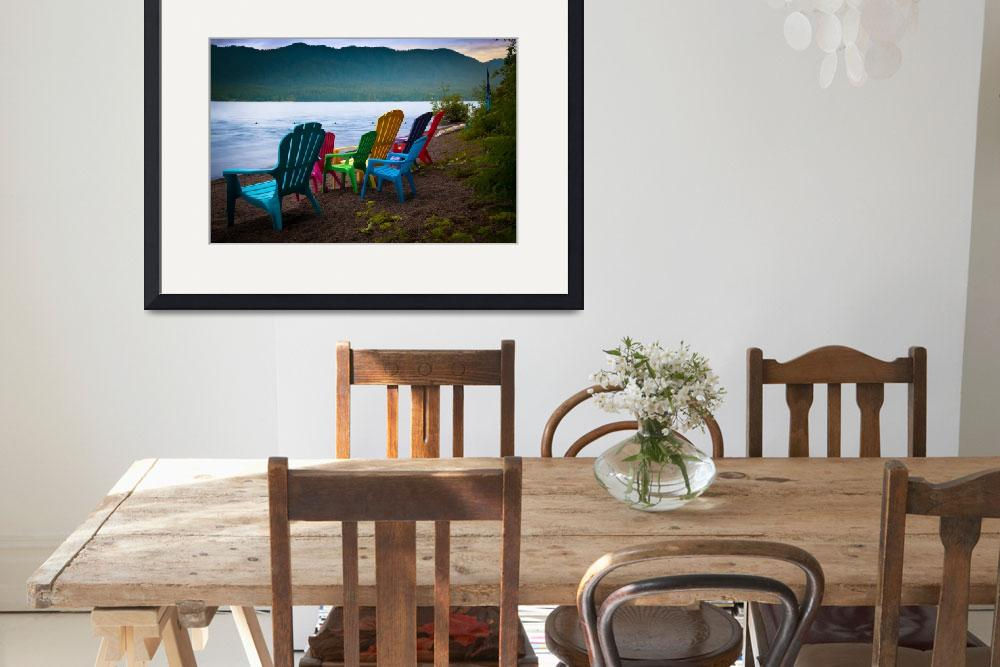 """""""Lake Quinault Chairs&quot  (2011) by Inge-Johnsson"""