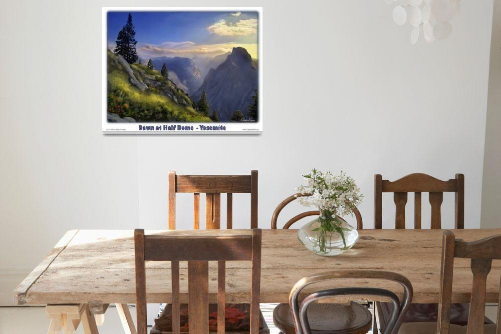 """""""Yosemite - Dawn at Half Dome""""  (2008) by pixeltone"""