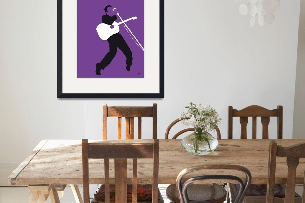 """""""No021 MY ELVIS Minimal Music poster&quot  by Chungkong"""