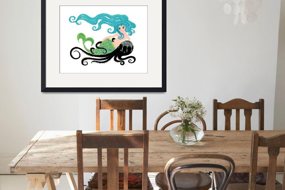 """""""Mermaid on Octopus&quot  by WinnieFitch"""