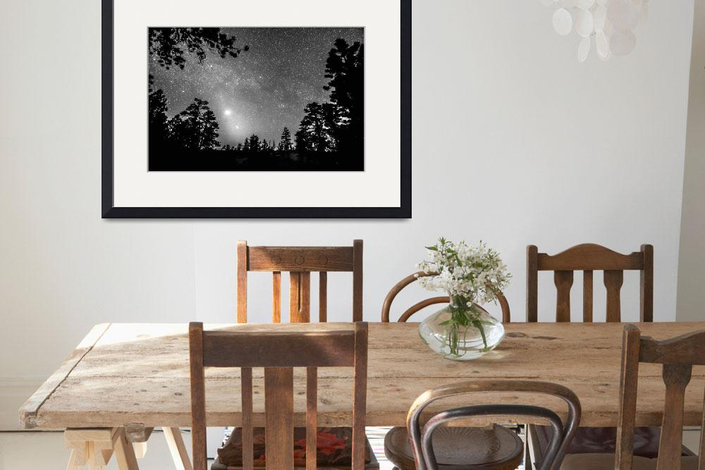 """""""Forest Silhouettes Constellation Astronomy Gazing&quot  (2015) by lightningman"""