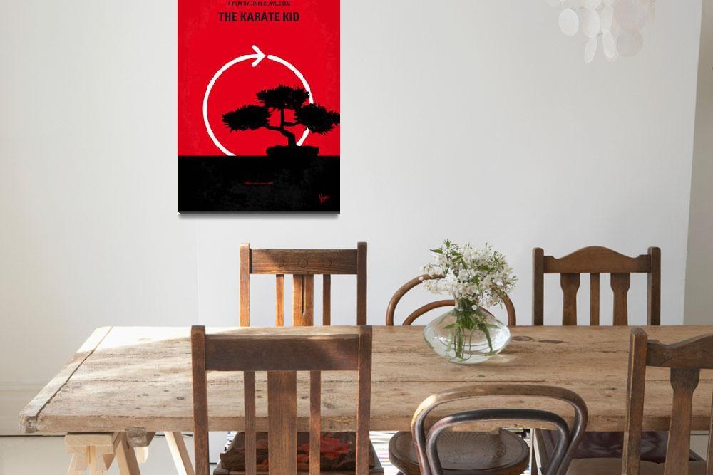 """""""No125 My KARATE KID minimal movie poster&quot  by Chungkong"""
