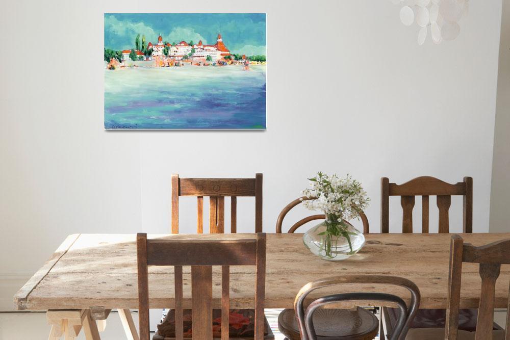 """The Beach at Coronado California by Riccoboni&quot  (2009) by RDRiccoboni"