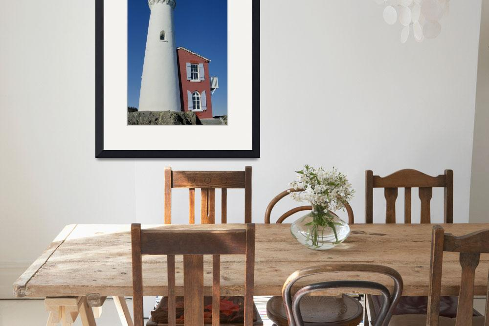 """""""Lighthouse with keeper house&quot  by bufo"""