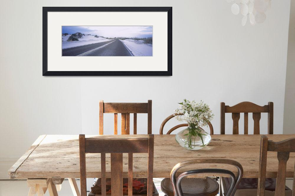 """""""Road passing through an arid landscape&quot  by Panoramic_Images"""