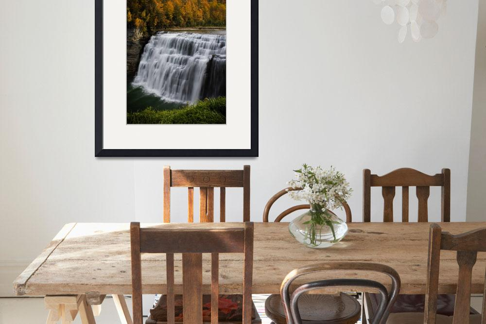 """""""Letchworth State Park Middle Falls&quot  by EricIrish"""