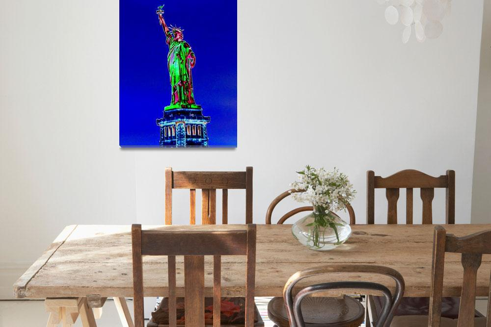 """Statue of Liberty PopArt 1593""  by coolnycgifts"