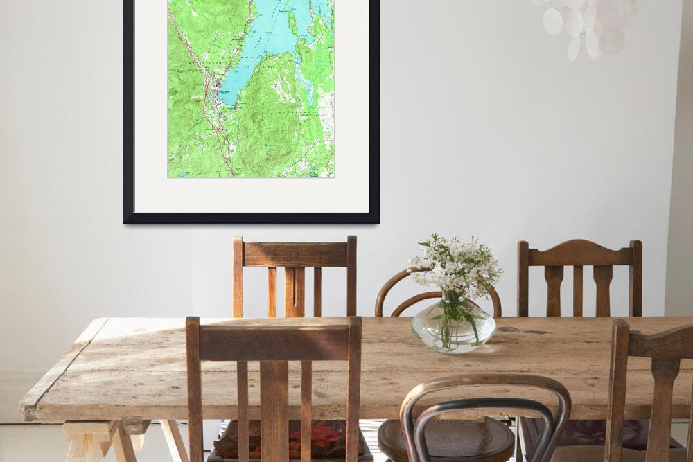 """Vintage Map of Lake George New York (1966)""  by Alleycatshirts"