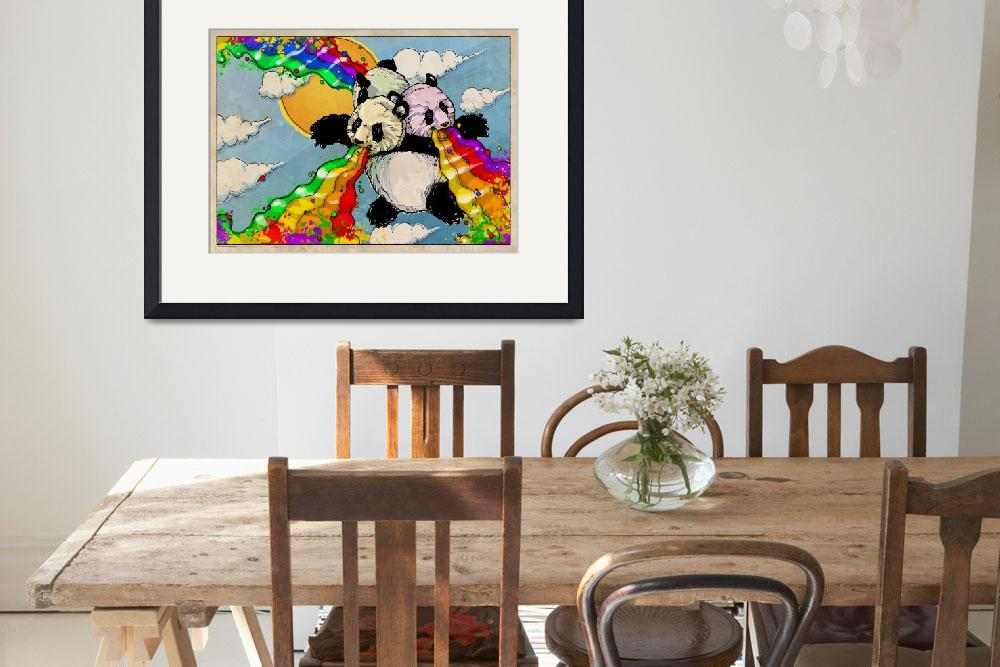 """The Rainbow Vomiting Pandas Of Interestingness""  (2009) by poprelics"