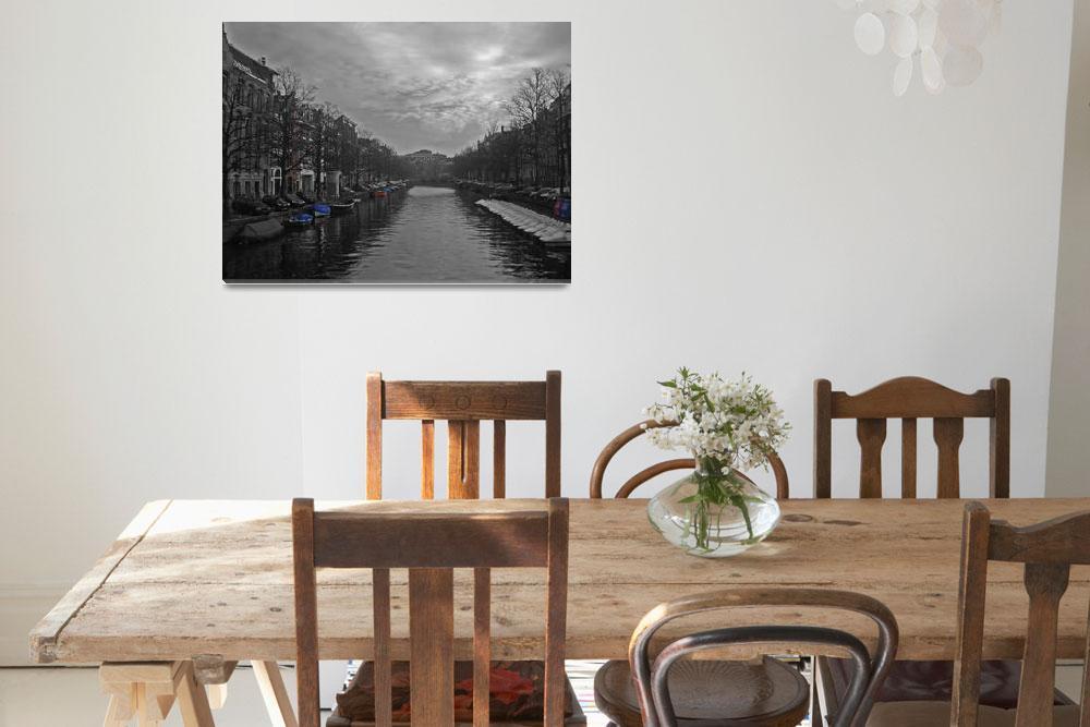 """Amsterdam channel (""Europe in B&W""  by Julie M )""  (2007) by ArtYourLife"