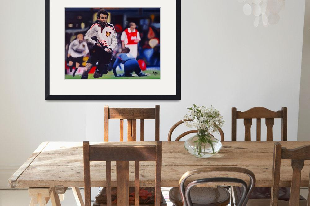 """Giggs Goal Celebration Manchester United v Arsenal&quot  (2011) by daverives"