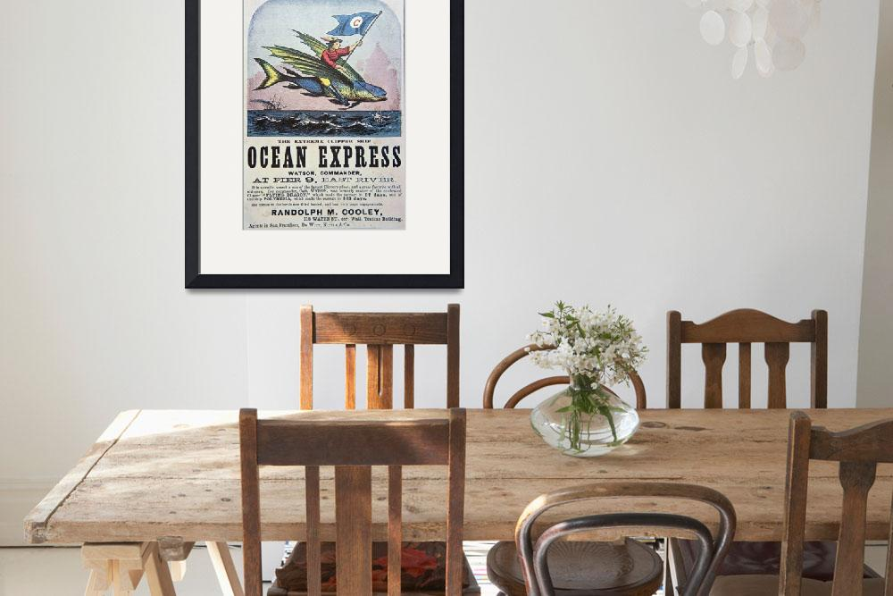 """""""Ocean Express Clipper Ship Vintage Advertisement""""  by fineartmasters"""