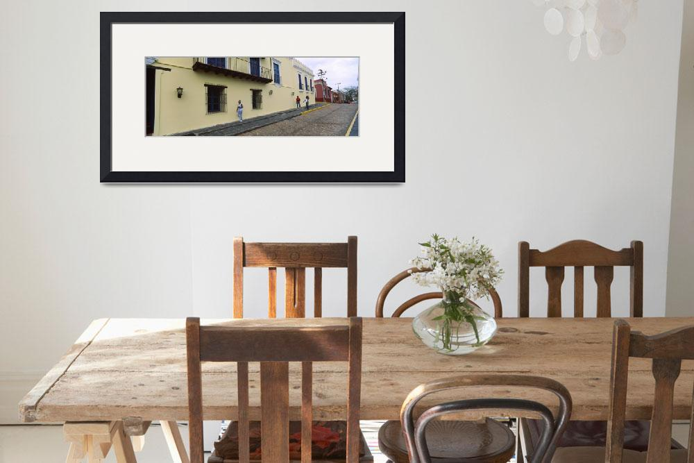 """""""Houses along a street Ciudad Bolivar Bolivar Stat&quot  by Panoramic_Images"""