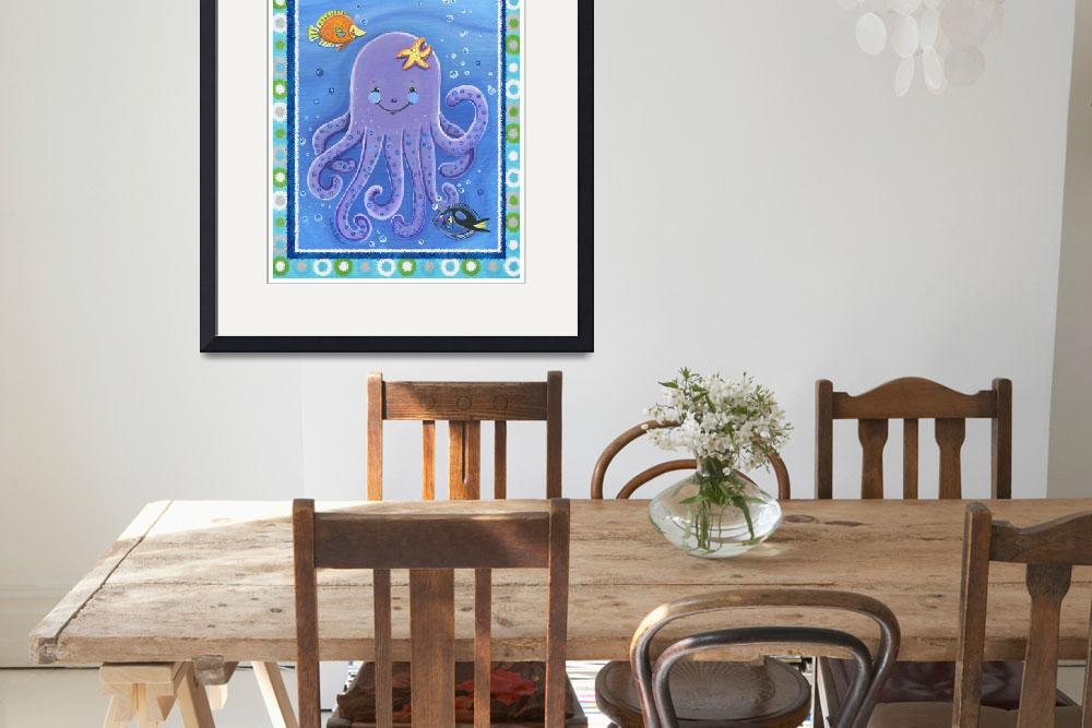 """Purple Octopus (with border)&quot  (2008) by Littlepig"