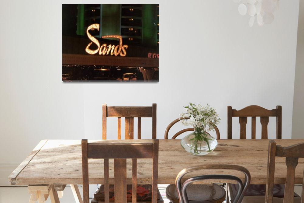 """""""Sands Hotel Front Sign&quot  by memoriesoflove"""