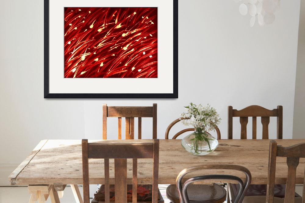 """""""Fireworks Red&quot  (2013) by MarieKelzer"""