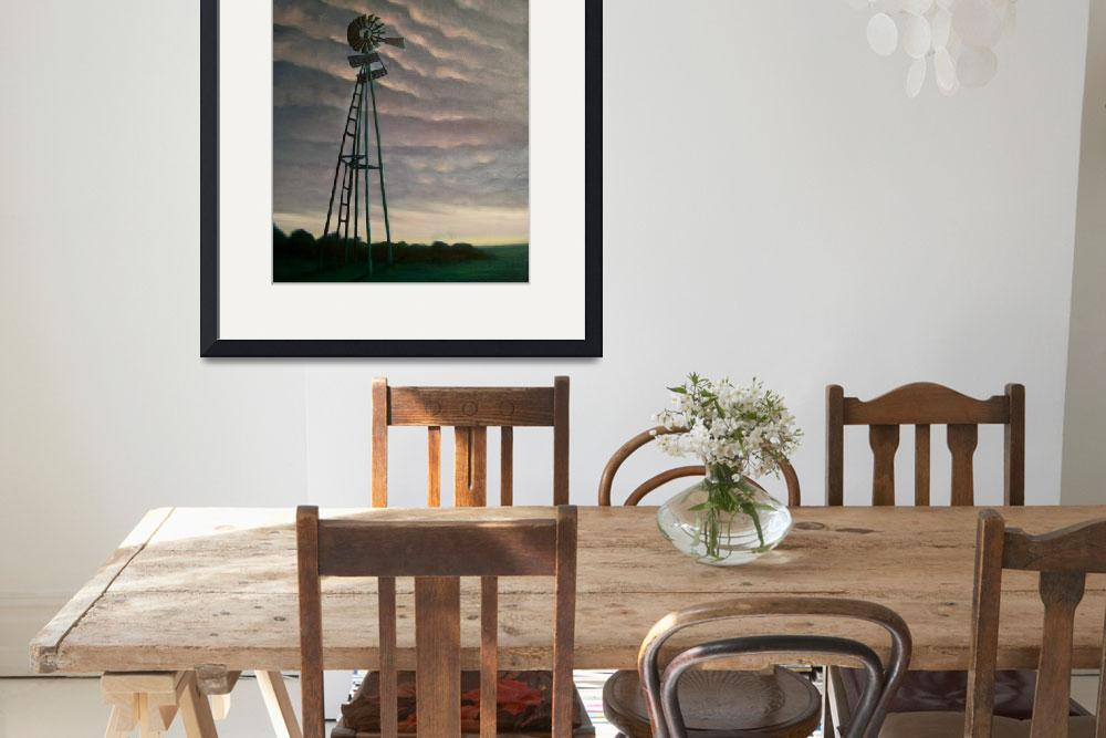 """""""Windmill at Dusk""""  (2011) by arteest"""