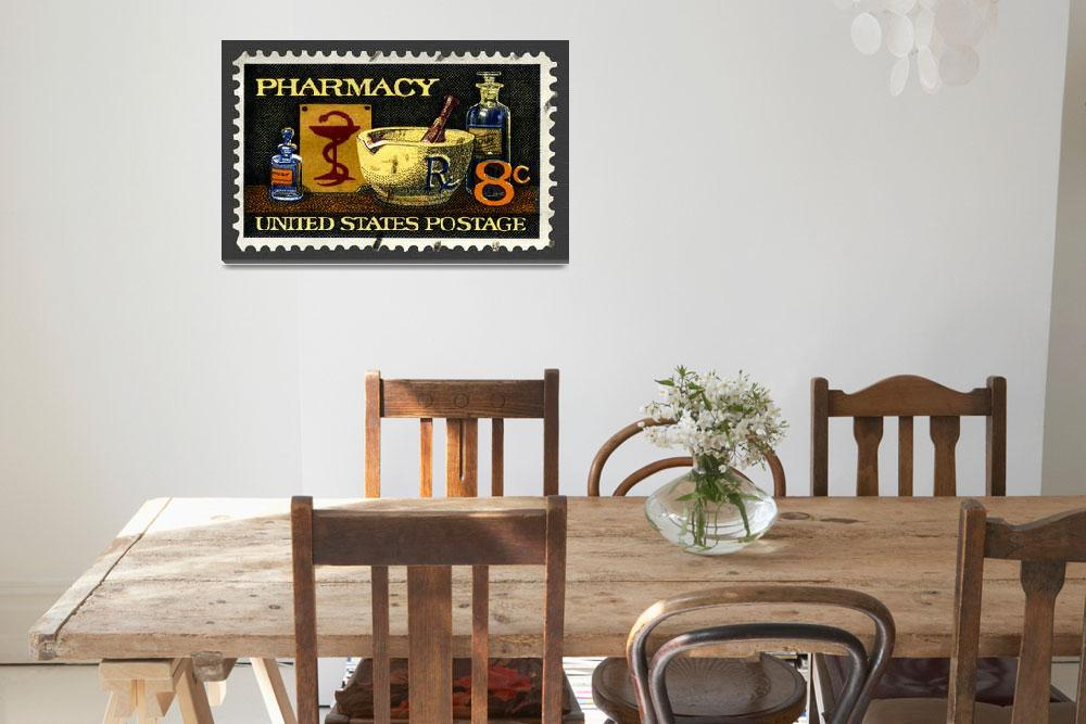 """""""Pharmacy Stamp&quot  (2008) by WilshireImages"""