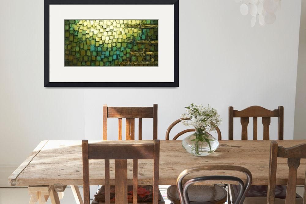 """""""Geometric Blue Brown Abstract&quot  (2009) by modernhouseart"""