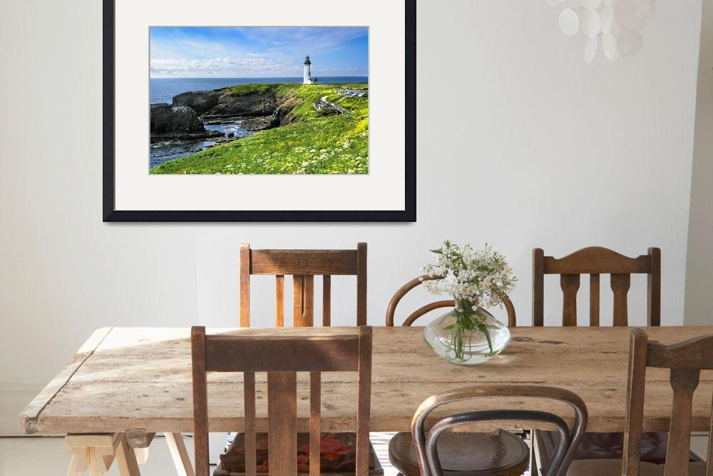"""""""Yaquina Head Lighthouse in Spring&quot  by pbk"""