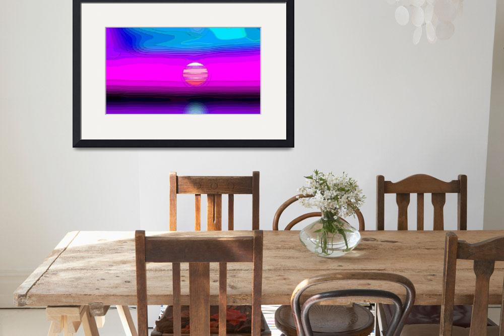 """""""Magenta Seaside Sunset Abstract 2""""  (2012) by TheNorthernTerritory"""