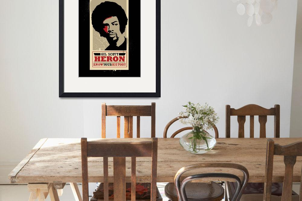 """""""Gil Scott Heron&quot  by becre8tive704"""