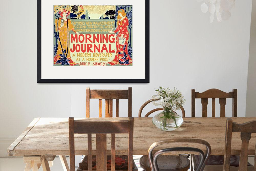 """""""Reproduction of a poster advertising the Morning J&quot  by fineartmasters"""