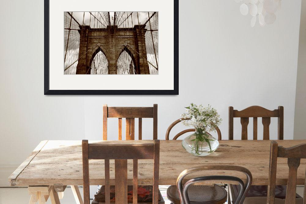 """""""Brooklyn Bridge - New York City 2009&quot  (2009) by Ffooter"""