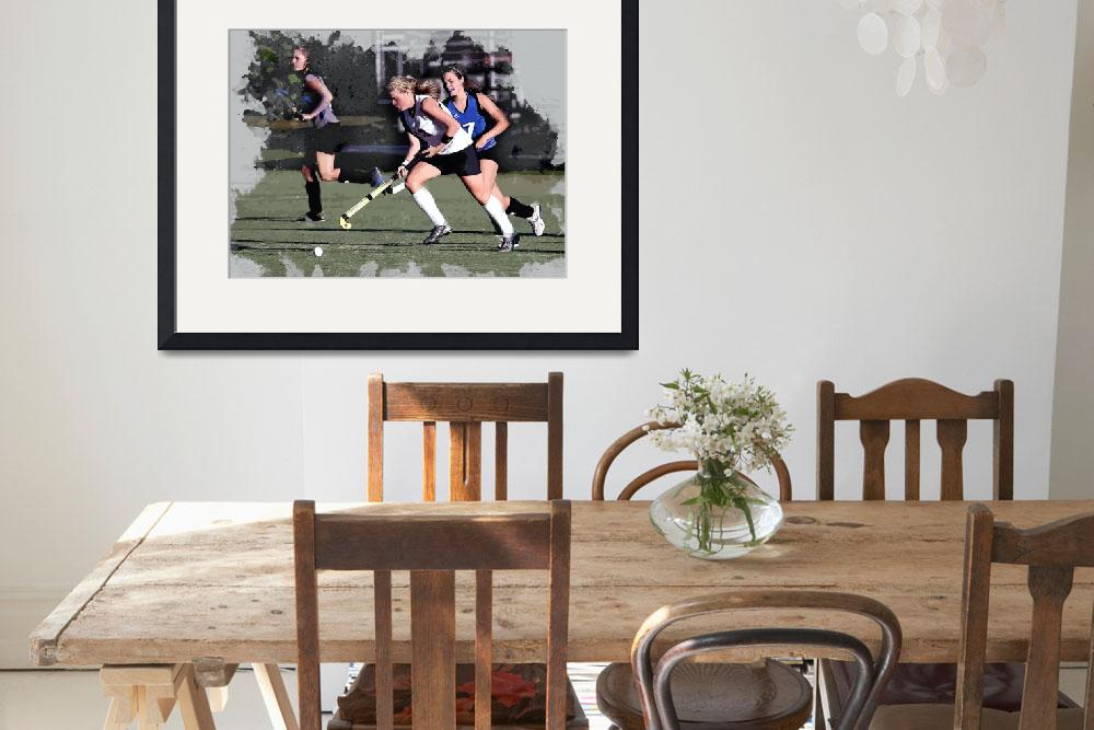 """""""Girls Field Hockey Action""""  (2018) by ElainePlesser"""