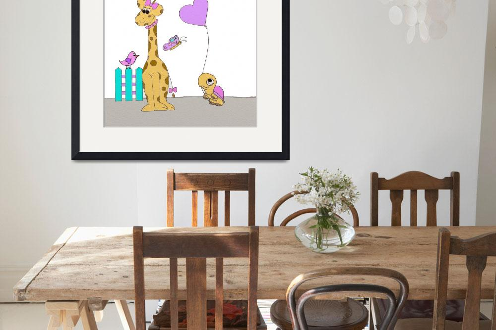 """""""Girafe&quot  (2017) by Cre8tivebrush"""