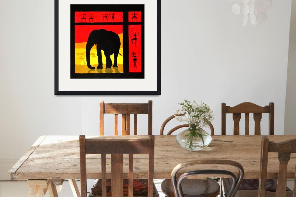 """sunset (elephant)&quot  (2009) by skaterine"