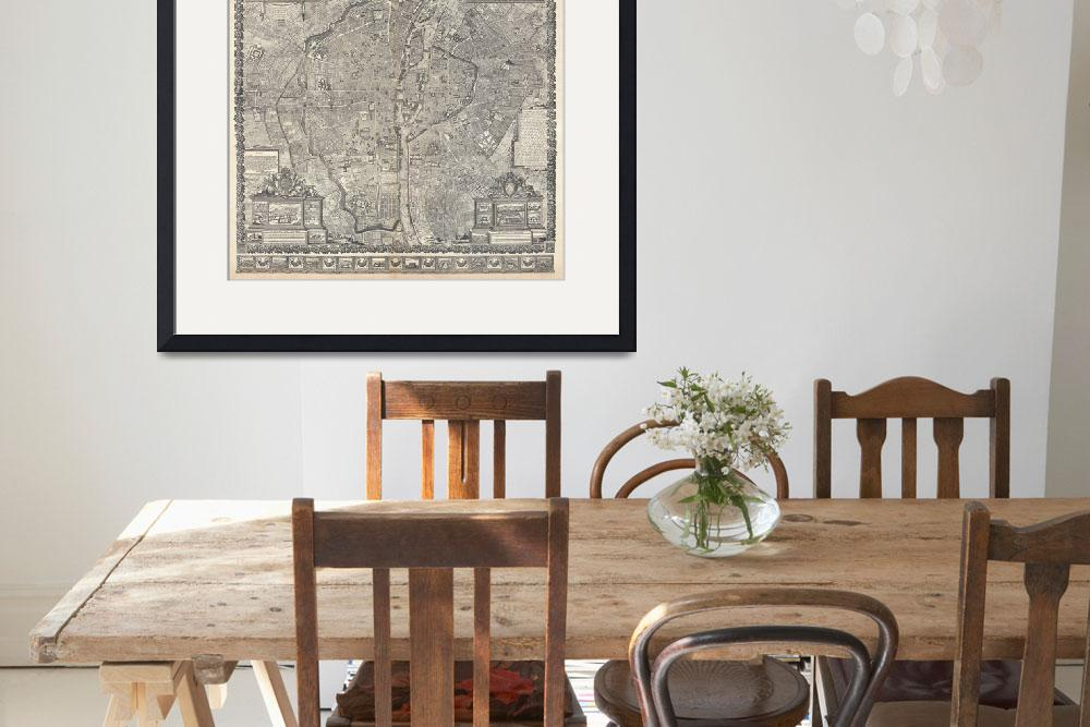"""Vintage Map of Paris France (1652)""  by Alleycatshirts"