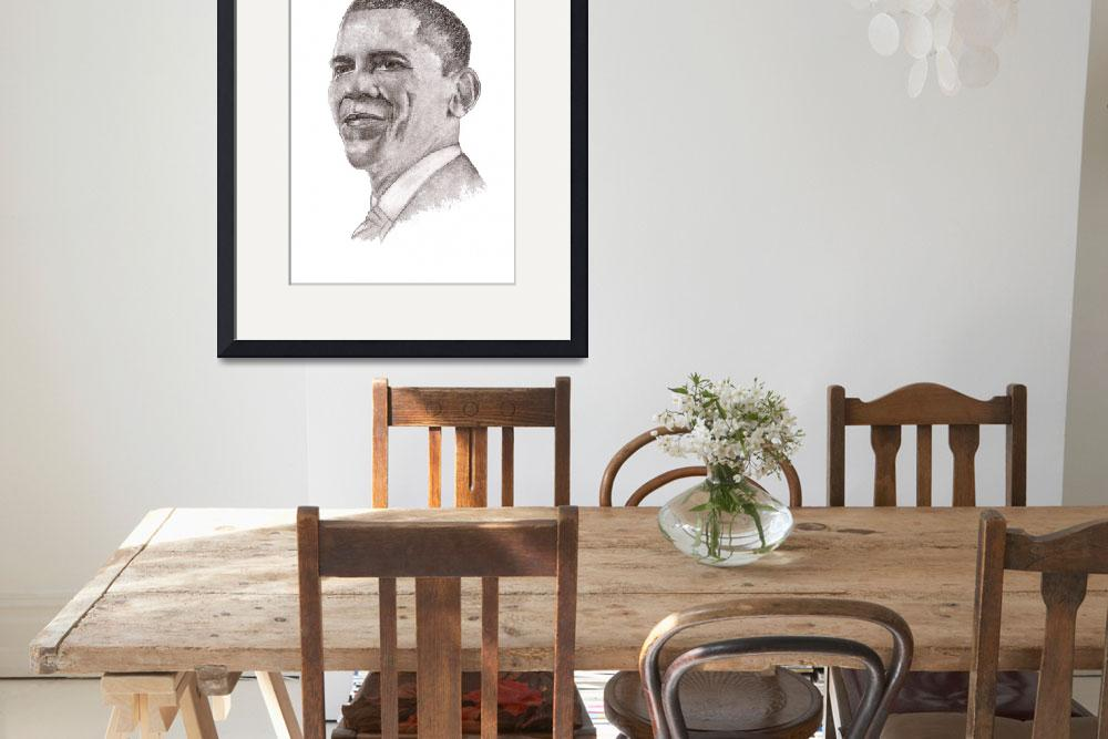 """President Barack Obama&quot  (2009) by Nanwright"