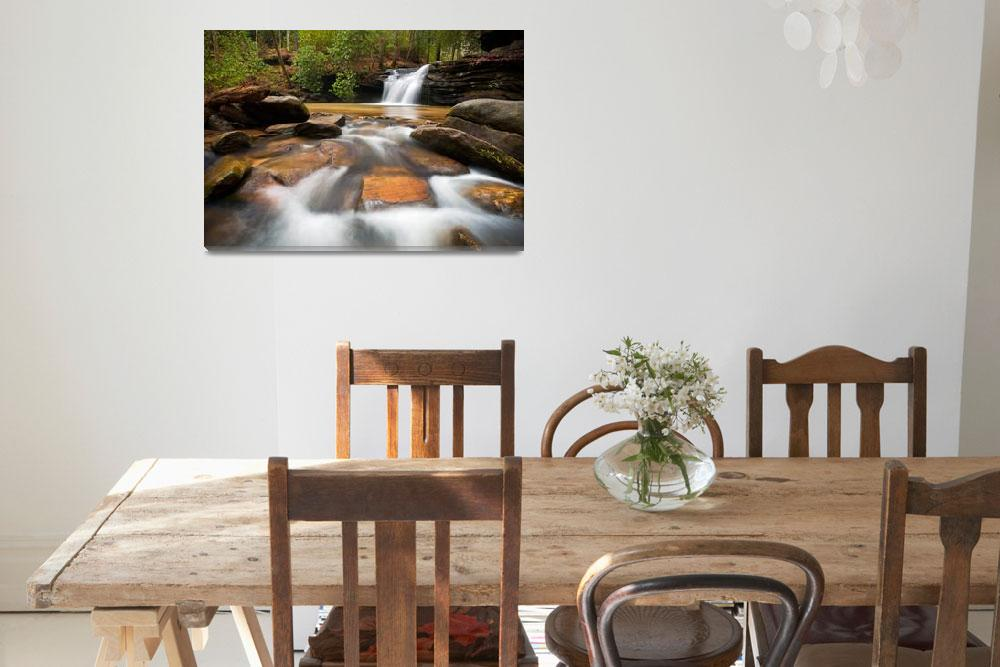 """""""Upstate SC Waterfall Landscape Blue Ridge Mountain&quot  (2012) by DAPhoto"""