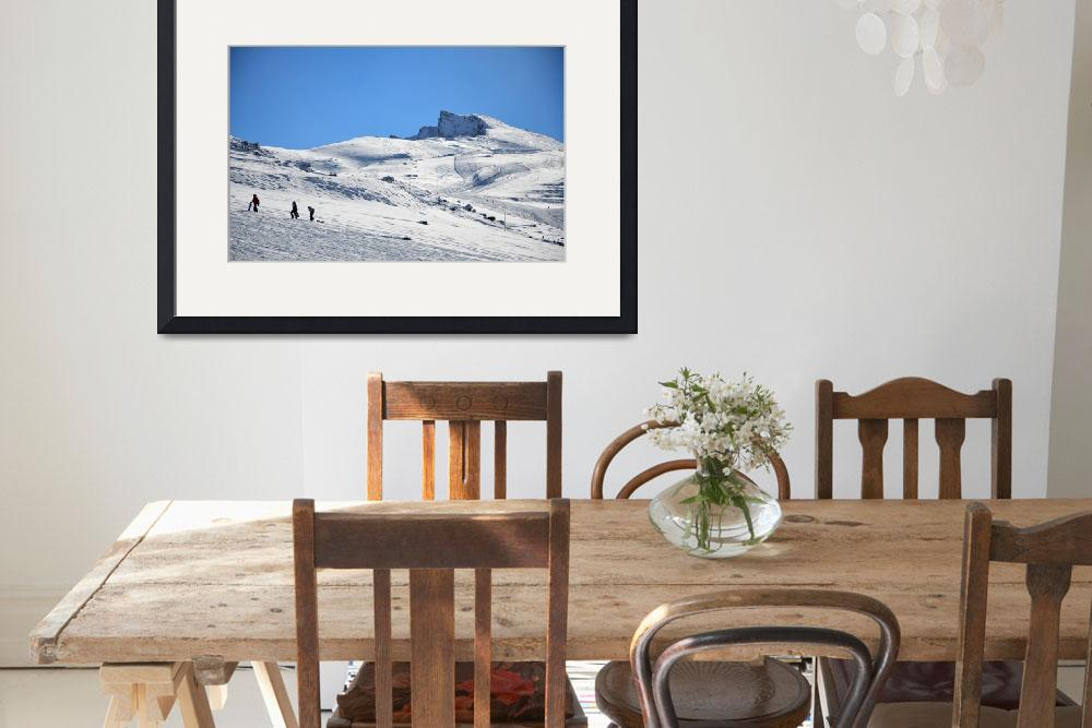"""""""Sledging in the Sierra Nevada&quot  (2011) by Rock_Photography"""