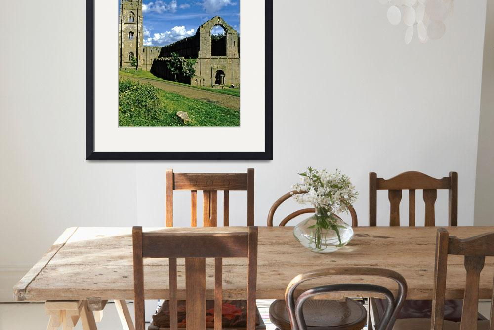 """""""Fountains Abbey in Summer 12&quot  (1990) by PriscillaTurner"""