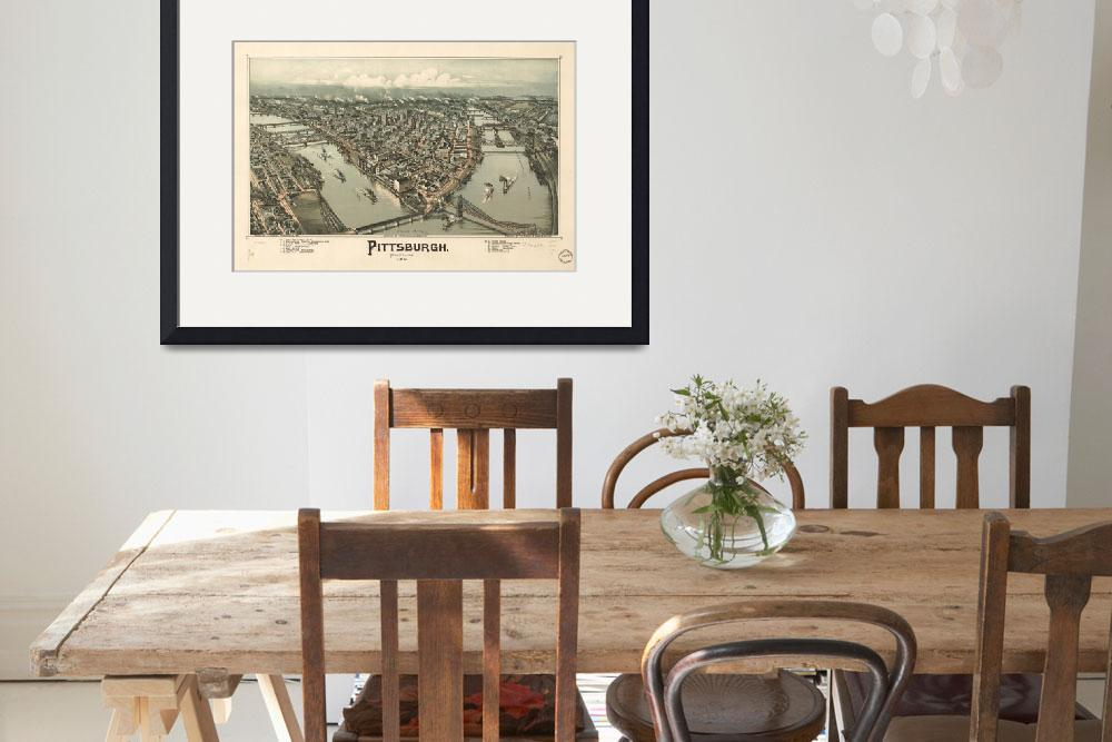 """""""Vintage Pictorial Map of Pittsburgh PA (1902)&quot  by Alleycatshirts"""