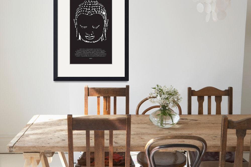 """""""Buddha in Black and White&quot  (2009) by diguiseppi"""