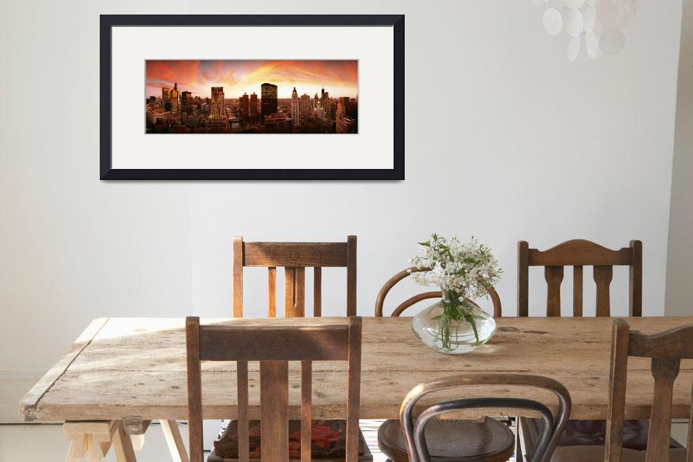 """""""Sunset Skyline Chicago IL&quot  by Panoramic_Images"""